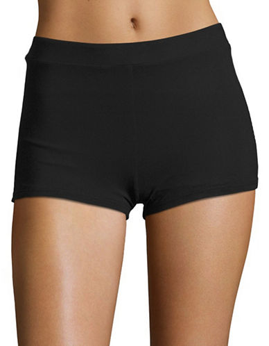 Profile By Gottex Basic Boyshorts-BLACK-38 plus size,  plus size fashion plus size appare