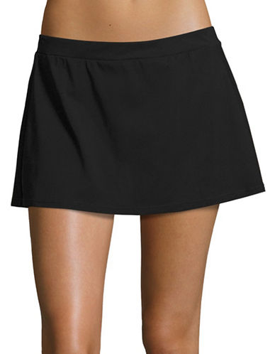 Profile By Gottex Basic Skirted Swim Bottom-BLACK-40 plus size,  plus size fashion plus size appare