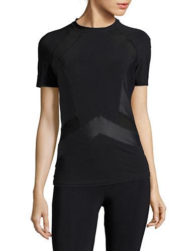 Profile By Gottex Onyx Short Sleeve Rashguard-BLACK-Small