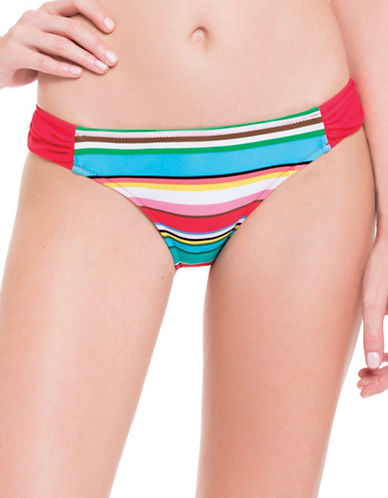Blush By Gottex Candy Cane Side Tab Swim Bottom-MULTICOLORED-Small