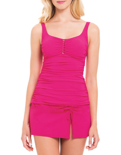 Profile By Gottex Waterfall Square Neck Tankini Top-ROSE-12