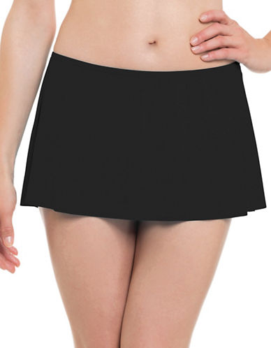 Profile By Gottex Classic Swim Skirt-BLACK-46