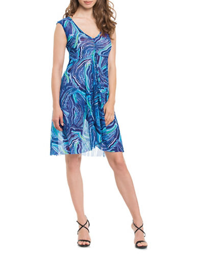 Profile By Gottex Watercolour Coverup-BLUE-X-Large