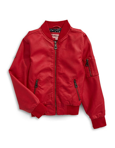 Urban Republic Zip Pocket Bomber Jacket-RED-14