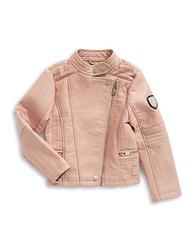 Urban Republic Faux-Leather Moto Jacket-PINK-3