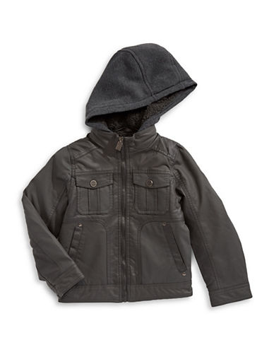 Urban Republic Sherpa-Lined Jacket-DARK CHARCOAL-10-12
