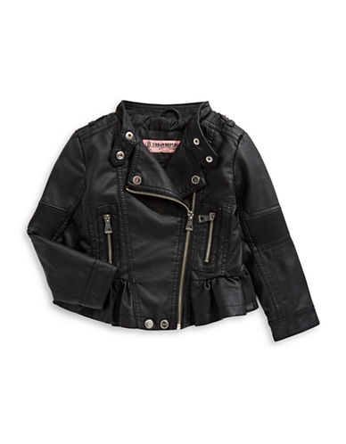 Urban Republic Ruffled Hem Jacket-BLACK-5-6