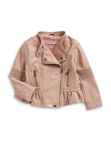 Urban Republic Ruffled Hem Jacket-PINK-4