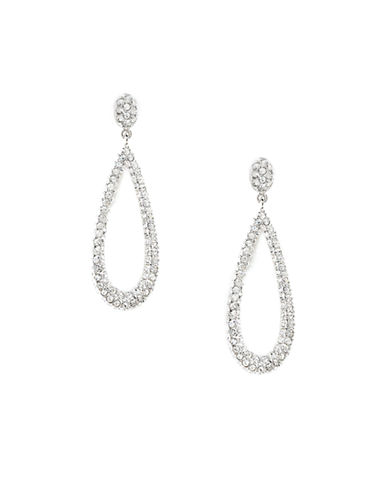 Nadri Pave Open Teardrop Earring-SILVER-One Size