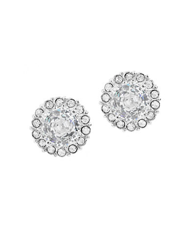 Nadri Framed Cubic Zirconia Stud Earrings-SILVER-One Size