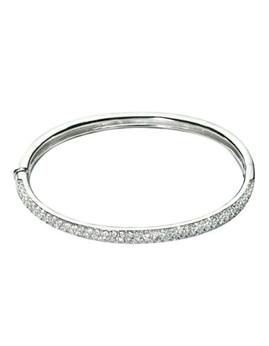 Nadri Pave Hinge Bangle Bracelet-SILVER-One Size