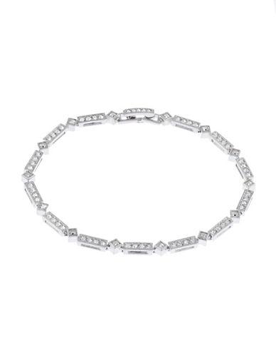 Nadri Pave Line Bracelet-RHODIUM-One Size