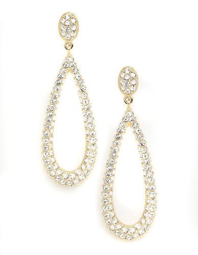 Nadri Pave Teardrop Earring-GOLD-One Size