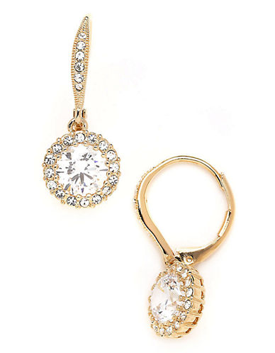Nadri NADRI Round Framed Cubic Zirconia Drop Earring-CRYSTAL-One Size