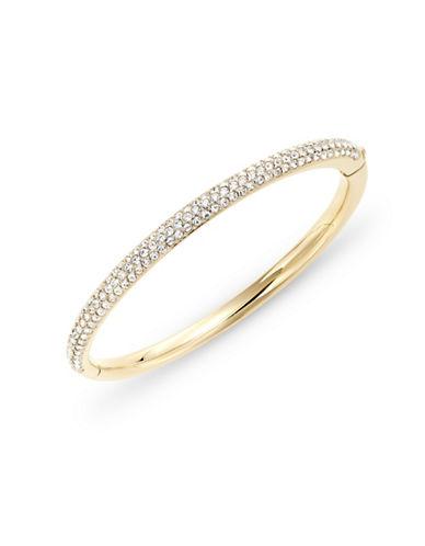 Nadri Pave Hinge Bangle Bracelet-GOLD-One Size