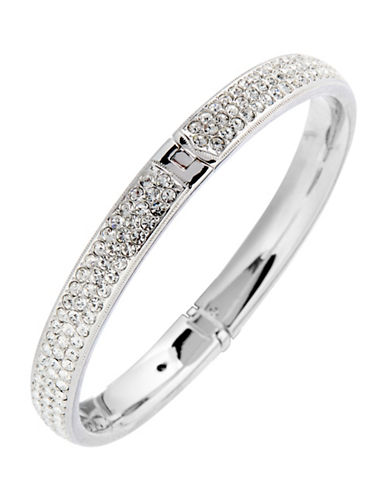 Nadri Pave Bangle-SILVER-One Size