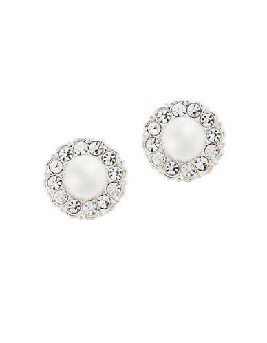 Nadri Small Pearl Framed Stud Earring-PEARL-One Size