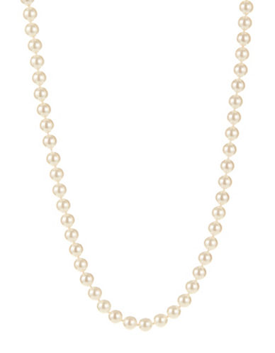 Nadri Simulated 3-8 Inch Pearl Strand Necklace-SILVER-One Size