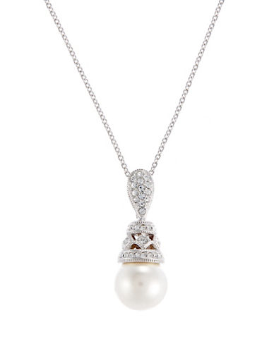 Nadri Pearl Pendant Necklace-PEARL-One Size