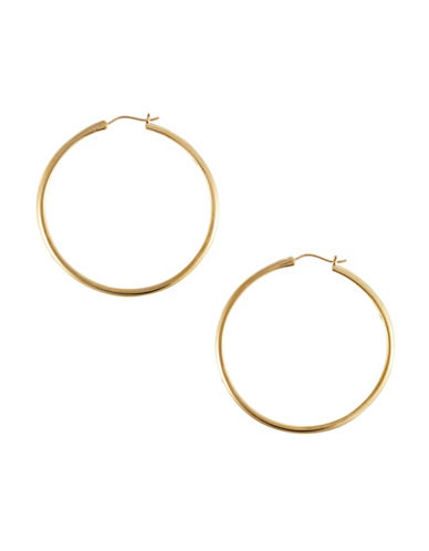 Nadri 1.5 inch Round Kinfe Edge Hoop-GOLD-One Size