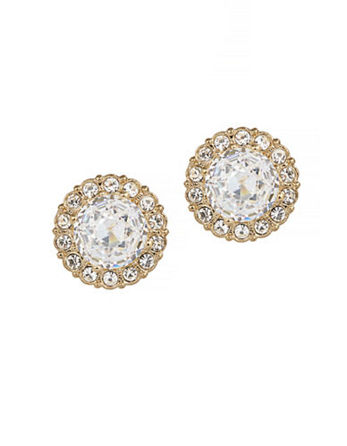 Nadri Faux Crystal Cluster Stud Earrings-GOLD-One Size