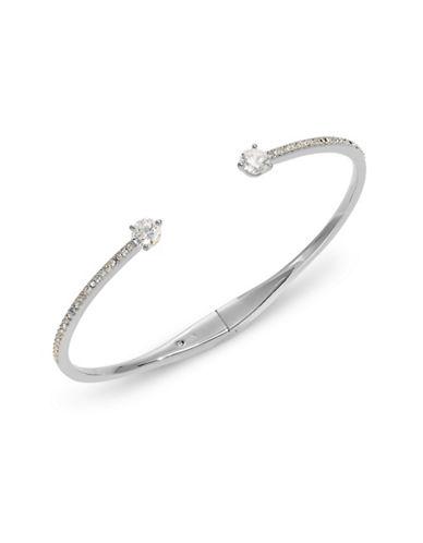 Nadri Open Cuff Pave Bracelet-SILVER-One Size