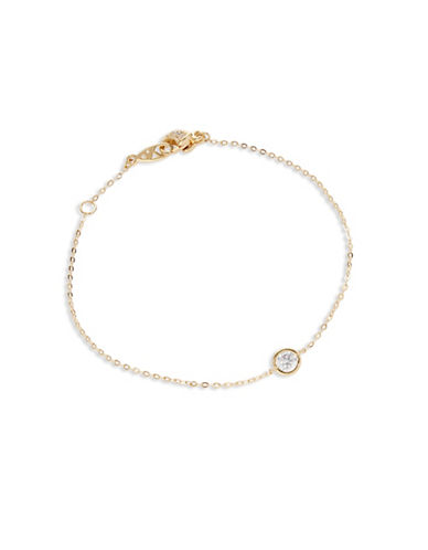 Nadri Single Stone Line Bracelet-GOLD-One Size