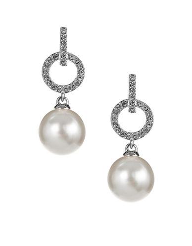 Nadri Circle Link Drop Earrings-SILVER-One Size