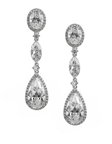 Nadri Multi-Stone Drop Earrings-SILVER-One Size