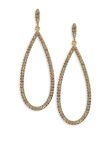 Nadri Open Pave Teardrop Earrings-GOLD-One Size