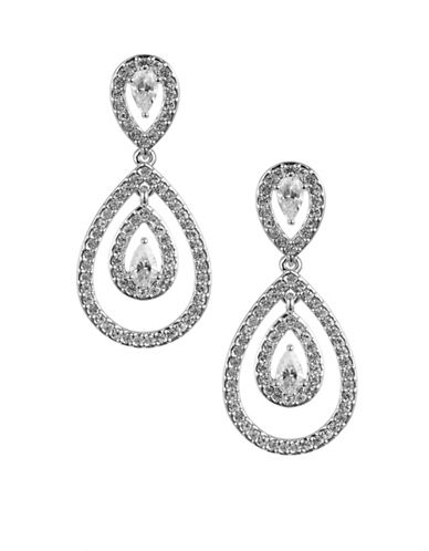 Nadri Echo Teardrop Earrings-SILVER-One Size