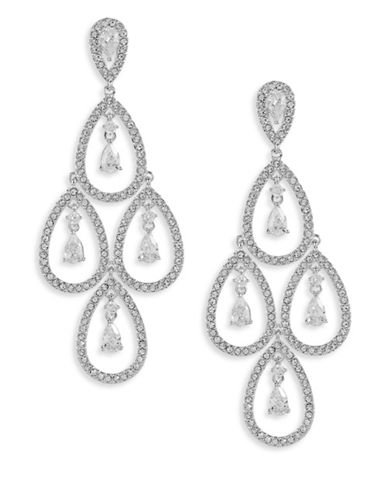 Nadri Open Pave Chandelier Earrings-SILVER-One Size