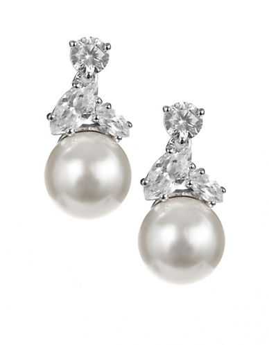 Nadri Faux Pearl Drop Earrings-PEARL-One Size