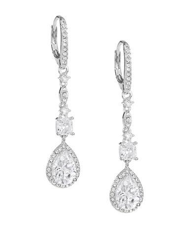 Nadri Linear Drop Earrings-SILVER-One Size