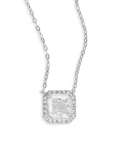 Nadri Mini Square Disc Pendant Necklace-SILVER-One Size