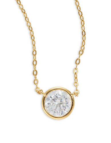 Nadri Mini Circle Pendant Necklace-GOLD-One Size