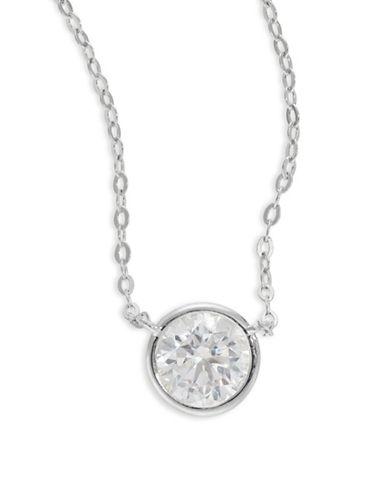 Nadri Mini Circle Pendant Necklace-SILVER-One Size