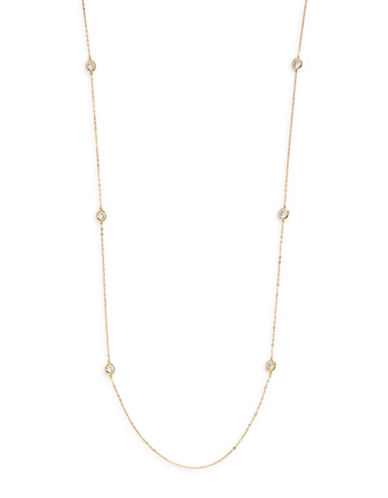 Nadri Long Station Necklace-GOLD-One Size
