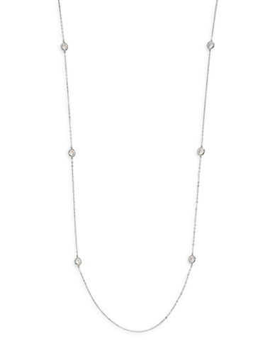 Nadri Long Station Necklace-SILVER-One Size
