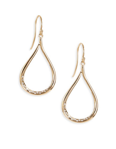 Nadri Teardrop Earrings-SILVER-One Size