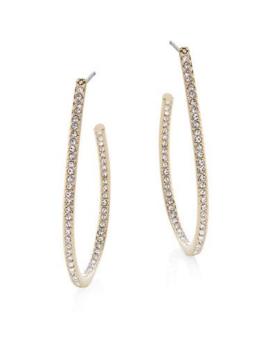 Nadri Pave Teardrop Hoop Earrings-GOLD-One Size