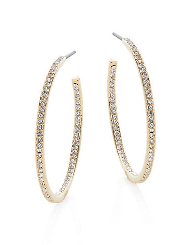 Nadri 1.25-Inch Pave Hoop Earrings-GOLD-One Size