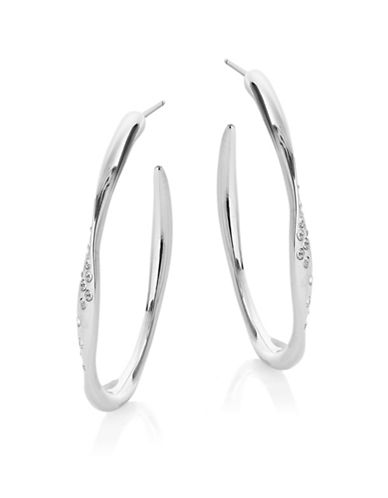 Nadri Twist Hoop Earrings-SILVER-One Size
