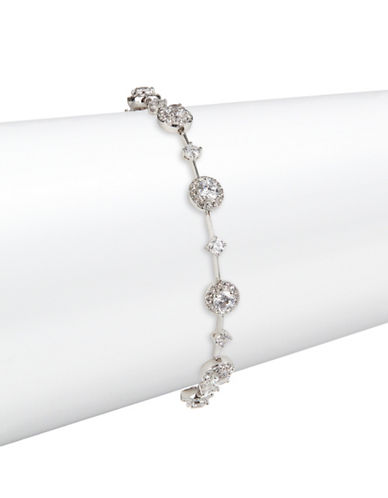 Nadri Scattered Round Stone Bracelet-SILVER-One Size