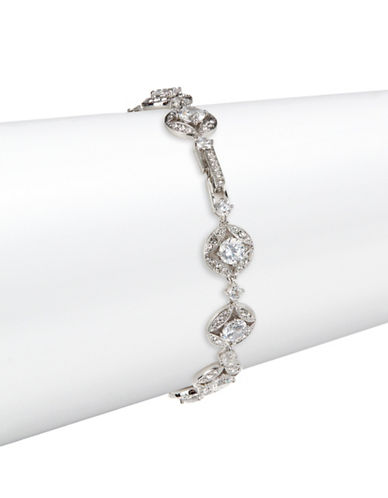 Nadri Quad Circle Stone Bracelet-SILVER-One Size