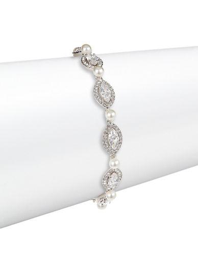 Nadri Marquise Pave Flex Bracelet-SILVER-One Size