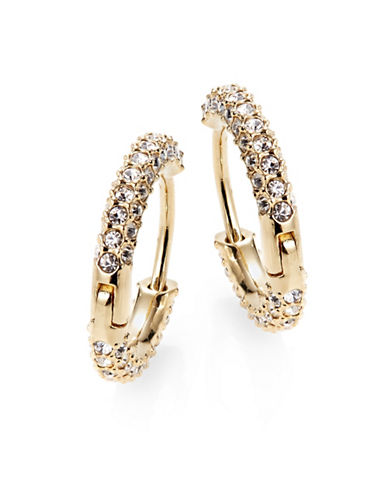 Nadri Pave Hugging Hoop Earrings-GOLD-One Size