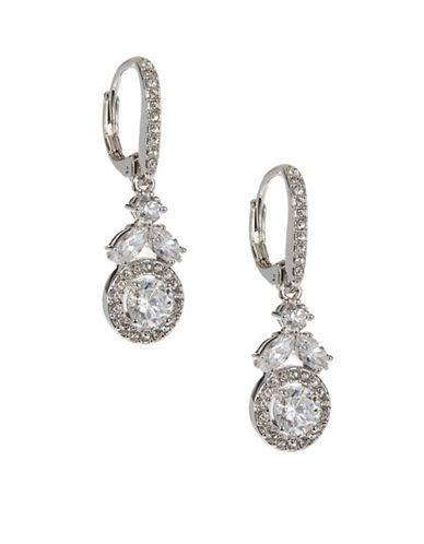 Nadri Cubic Zirconia Drop Earrings-SILVER-One Size