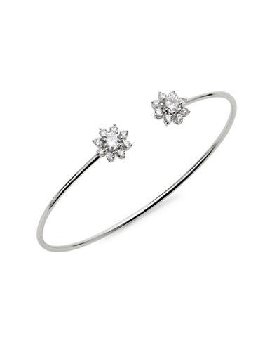 Nadri Silvertone Floral Bracelet-SILVER-One Size