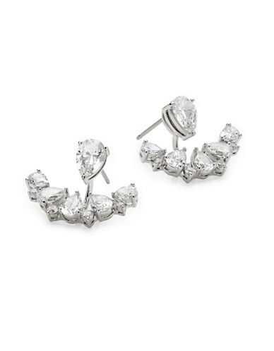 Nadri Boxed Front-to-Back Earrings-SILVER-One Size